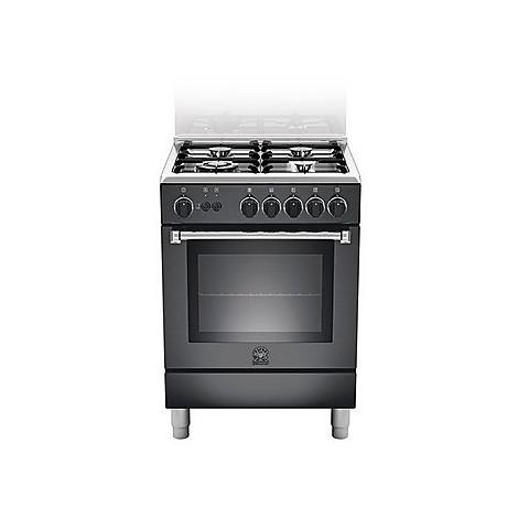 am-64c71cne la germania cucina 60 cm 4 fuochi 1 forno a gas nera