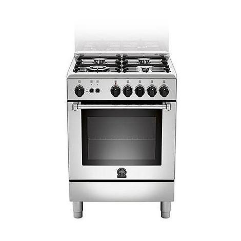 am-64c71cx la germania cucina 60 cm 4 fuochi 1 forno a gas inox