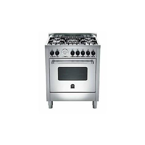 am-75c71bx la germania cucina 70 cm 5 fuochi 1 forno a gas inox