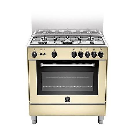am-85c61ccrt la germania cucina 80 cm 5 fuochi 1 forno elettrico crema