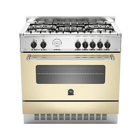 am-95c61acrt la germania cucina 90 cm 5 fuochi 1 forno elettrico crema