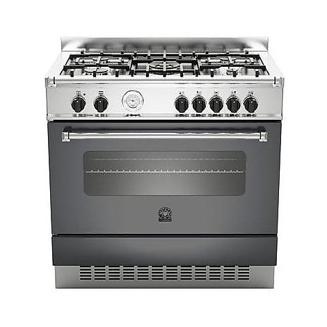 am-95c61anet la germania cucina 90 cm 5 fuochi 1 forno elettrico nera