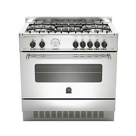 am-95c61axt la germania cucina 90 cm 5 fuochi 1 forno elettrico inox