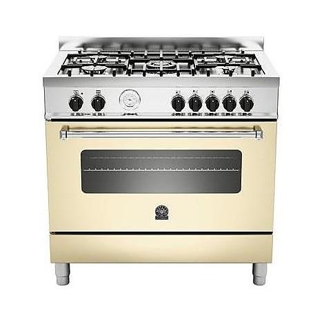 am-95c61bcrt la germania cucina 90 cm 5 fuochi 1 forno elettrico crema