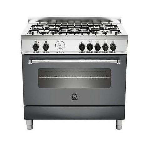 am-95c61bnet la germania cucina 90 cm 5 fuochi 1 forno elettrico nera