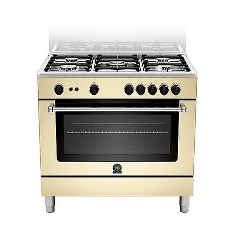 am-95c61ccrt la germania cucina 90 cm 5 fuochi 1 forno elettrico crema