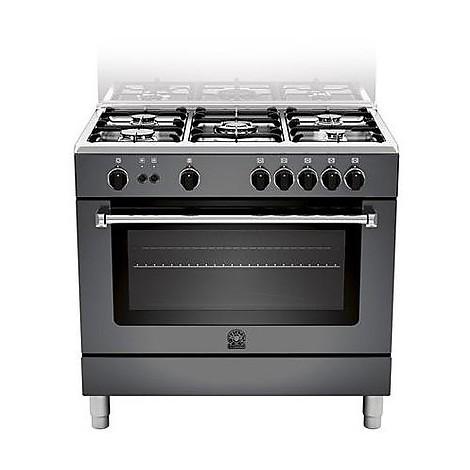 am-95c61cnet la germania cucina 90 cm 5 fuochi 1 forno elettrico nera