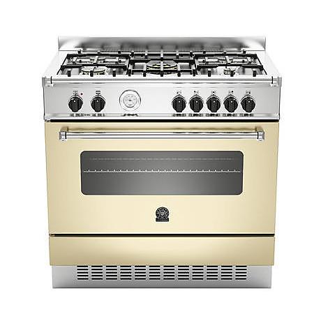 am-95c71acr la germania cucina 90 cm 5 fuochi 1 forno a gas crema