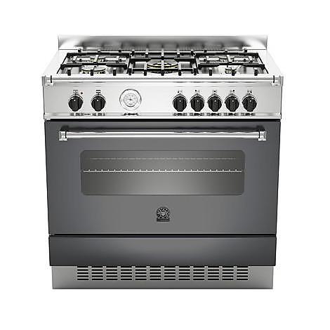 am-95c71ane la germania cucina 90 cm 5 fuochi 1 forno a gas nera