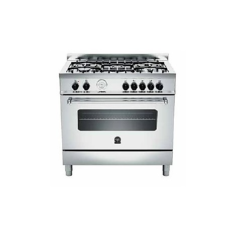 am-95c71bx la germania cucina 90 cm 5 fuochi 1 forno a gas inox
