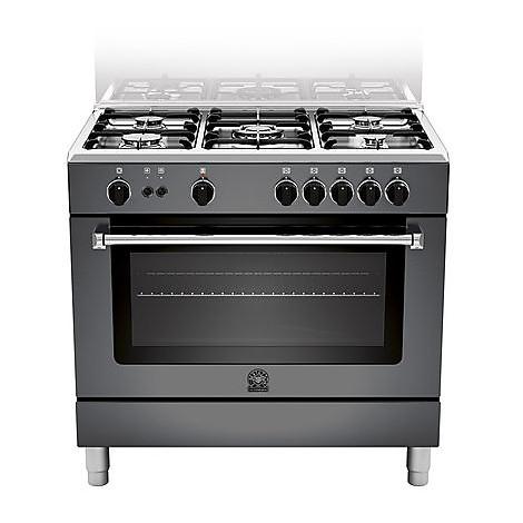 am-95c71cne la germania cucina 90 cm 5 fuochi 1 forno a gas nera