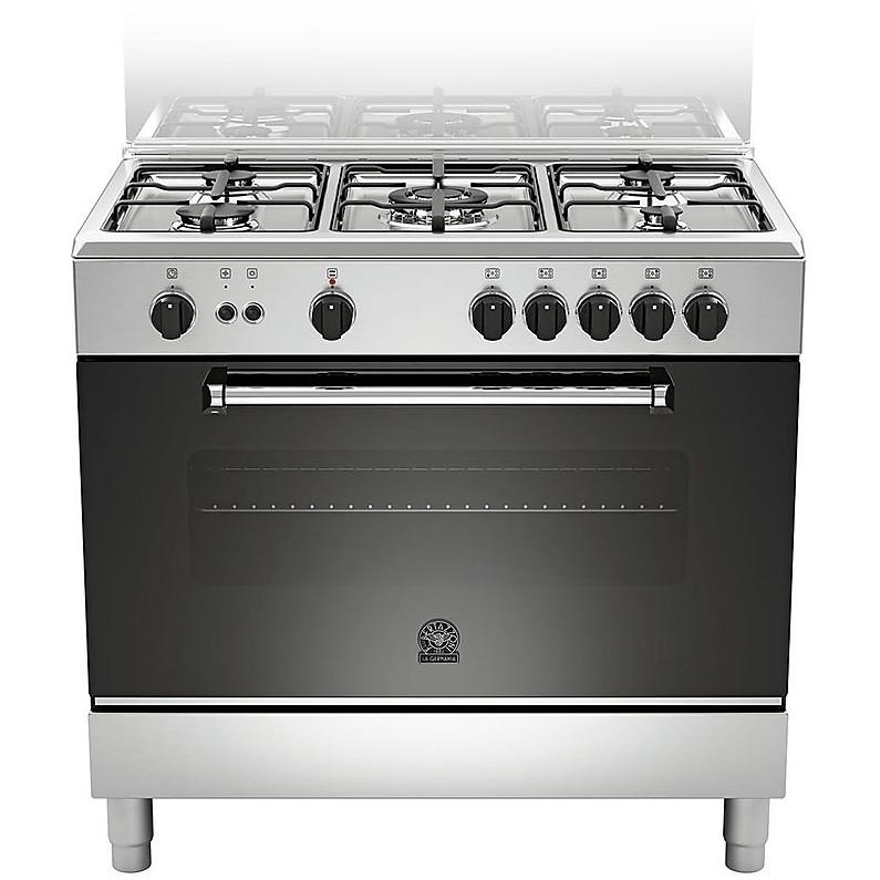 am-95c71dx la germania cucina 90 cm 5 fuochi 1 forno a gas inox ... - Cucine 5 Fuochi