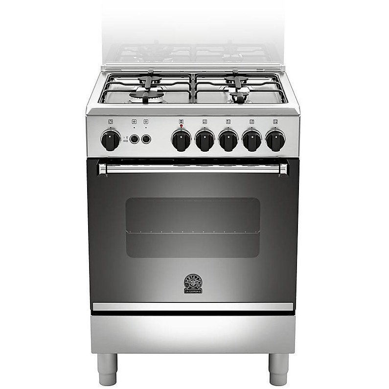 am640-71dx la germania cucina a gas 4 fuochi inox ventilato