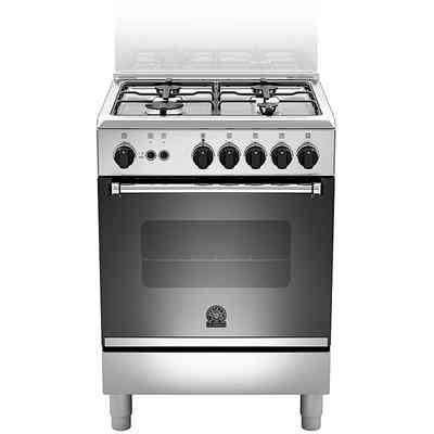 LA GERMANIA am640-71dx la germania cucina a gas 4 fuochi inox ventilato