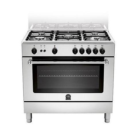 am95-c71cx la germania cucina 90x60 inox 5 fuochi a gas ventilato