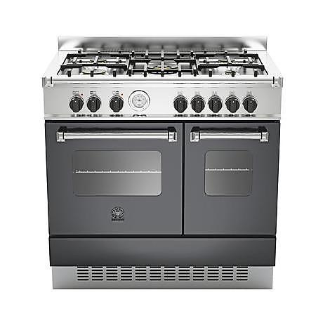 amd-5c61ane la germania cucina 90 cm 5 fuochi 2 forni elettrici nera