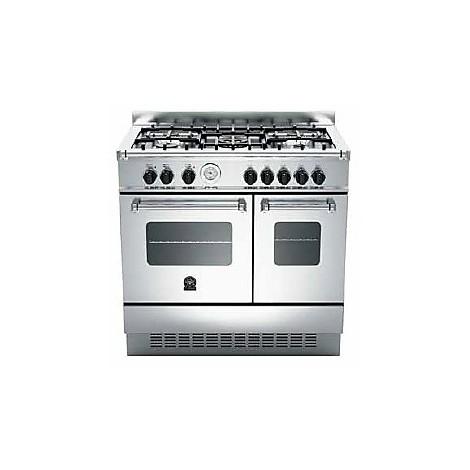 amd-5c61ax la germania cucina 90 cm 5 fuochi 2 forni elettrici inox