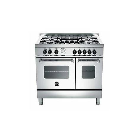 amd-5c61bx la germania cucina 90 cm 5 fuochi 2 forni elettrici inox