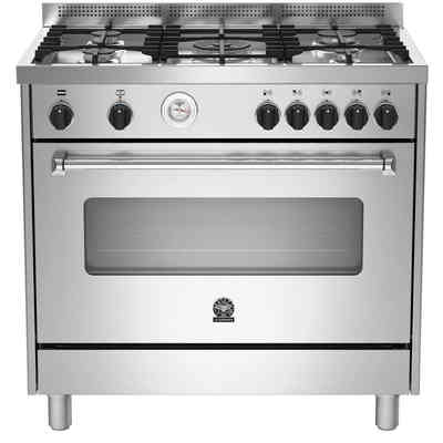 cucina a gas ams95c71dx 5 fuochi a gas forno a gas ...