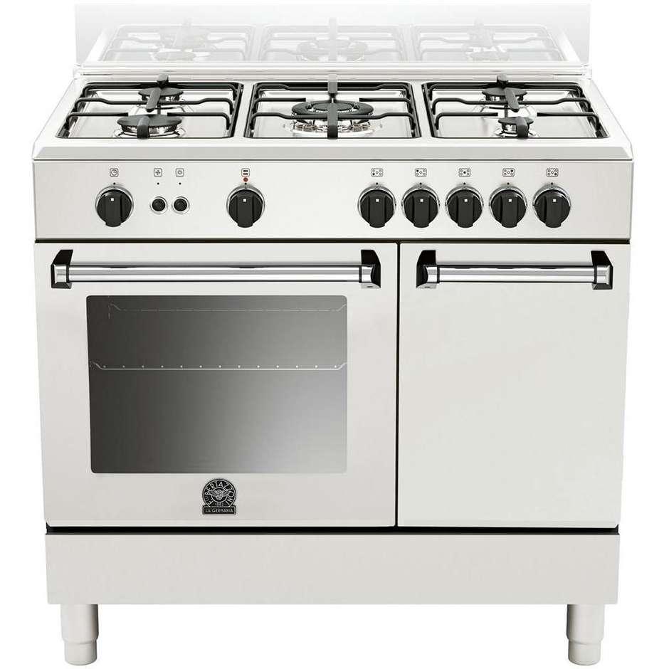 amp-95c51dw la germania cucina 90 cm 5 fuochi 1 forno elettrico white