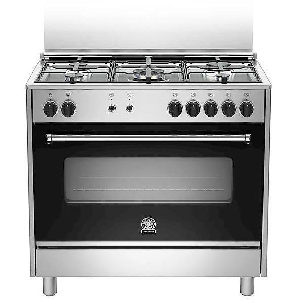 ams95c61ldx la germania cucina 90x60 5 fuochi a gas forno elettrico inox