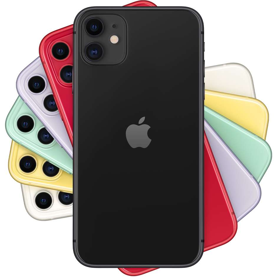 "Apple iPhone 11 Smartphone 6.1"" memoria 64 GB iOS 13 colore Nero"