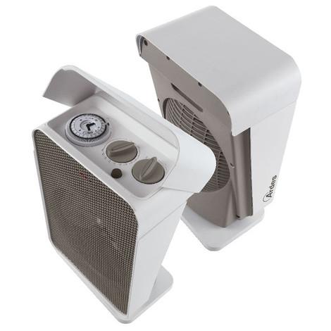 Ardes AR4F06T Termoventilatore con Timer IP21 Potenza 2000 Watt 2 Livelli Colore Bianco