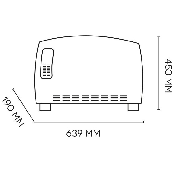 Argo 191061054 JAZZ T termoconvettore elettrico 3 modalità riscaldamento colore bianco