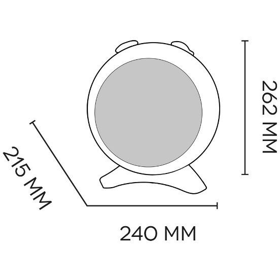 Argo 191070177 KIRA ICE termoventilatore compatto 2 livelli di potenza colore bianco