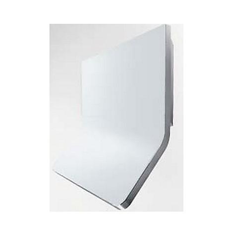 aria 90 cm ix vetro bianco tecnowind cappa