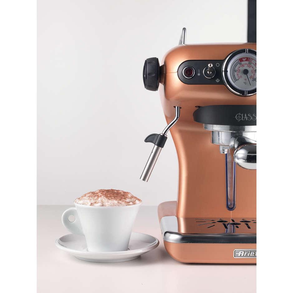 Ariete 1389 Espresso Classica macchina del caffè polvere e cialde 850 Watt colore rame