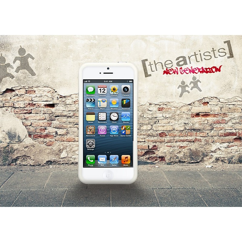 art-10205 bumper metal white iphone 5 the artists