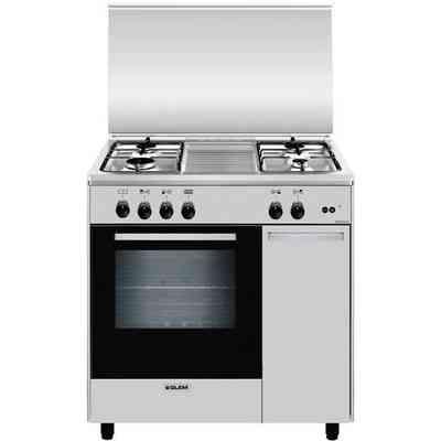 La Germania AMN805GEVSNEE cucina 80x50 5 fuochi a gas forno gas ...