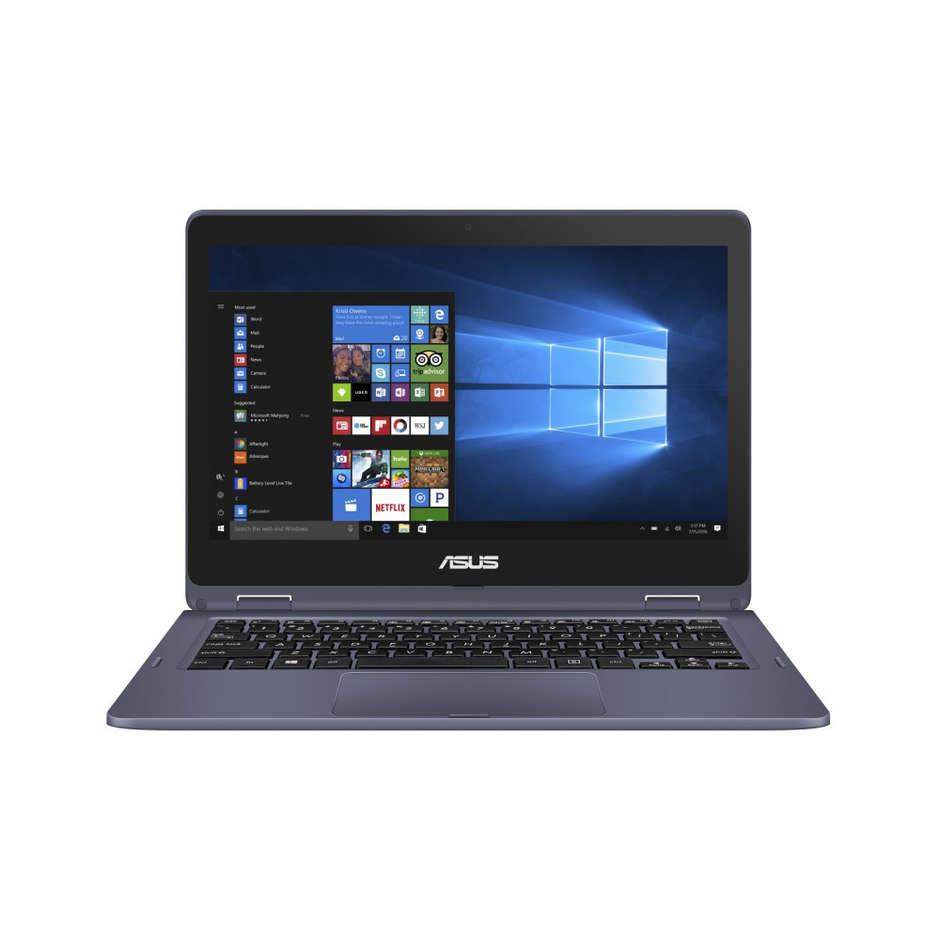 "Asus TP202NA-EH012T VivoBook Flip 12 Notebook Convertibile 2in1 11,6"" Touchscreen Ram 4 GB EMMC 64 GB colore Grigio"