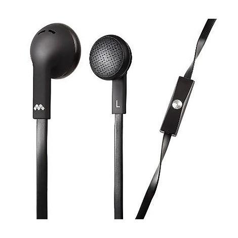 auricolare flat microfono black