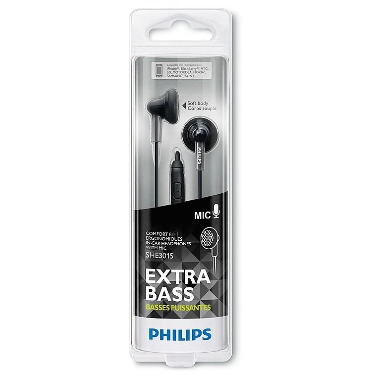 auricolare nero con microfono