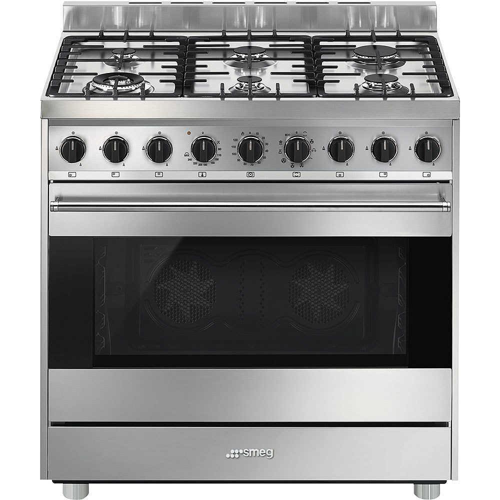 B9GMXI9 Smeg cucina 6 fuochi a gas forno elettrico multifunzione ...