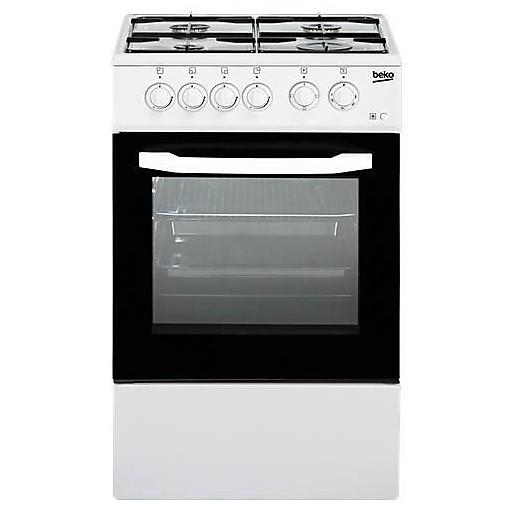 Beko CSS42014FW cucina 50x50 4 fuochi a gas forno elettrico classe B 54 litri bianco