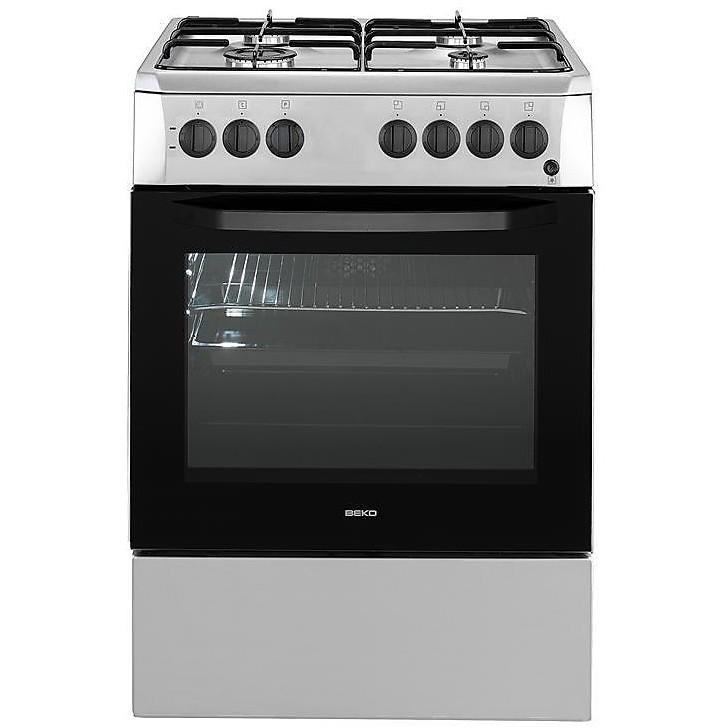 Beko Cucina 4 Fuochi Gas Con Forno Multif 60x60 Inox