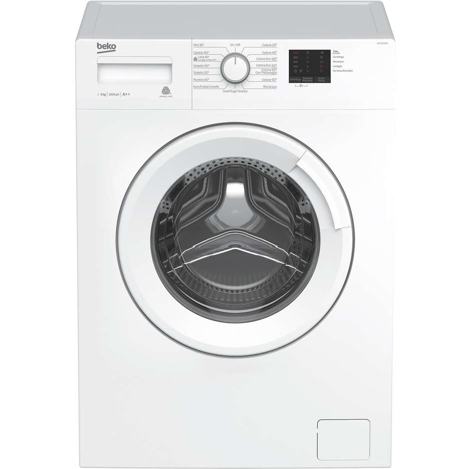 Beko WTX51021W lavatrice carica frontale 45 cm 5 Kg 1000 giri classe A++ colore bianco