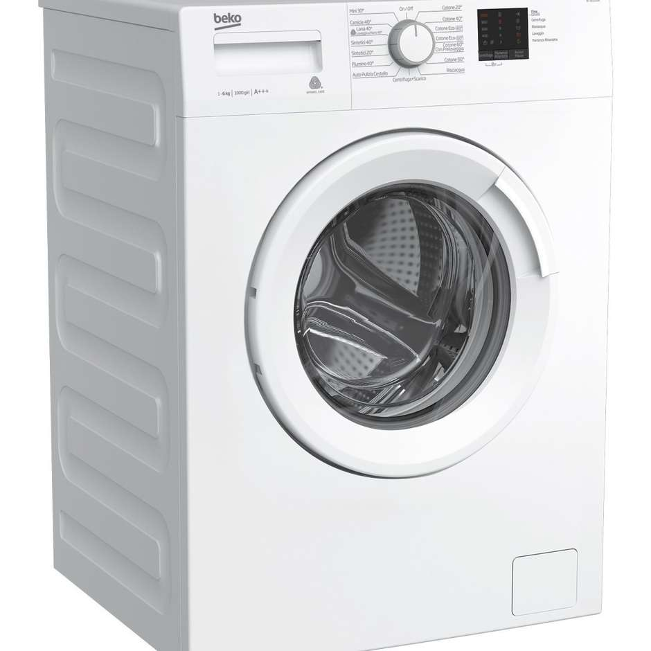 Beko WTX61031W lavatrice carica frontale 6 Kg 1000 giri classe A+++ colore bianco