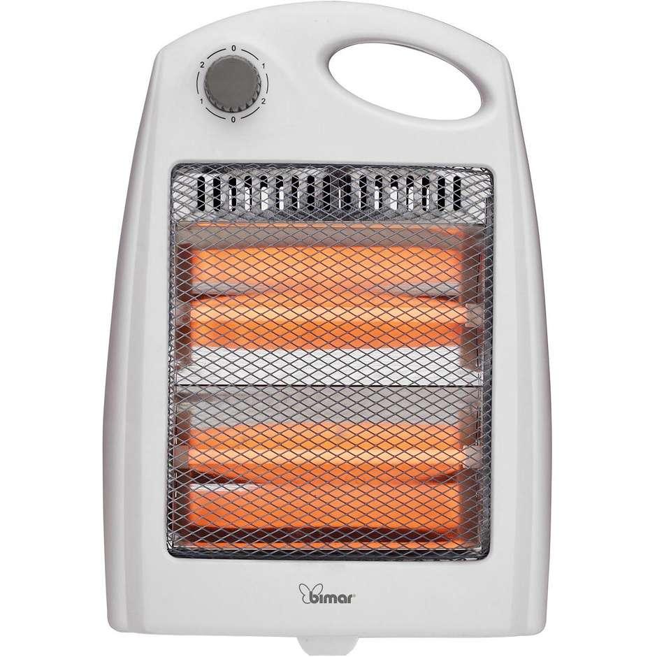 Bimar HR304 Stufa elettrica ad infrarossi con resistenze al quarzo per stanza 8 m² 800 W  colore Bianco,Grigio