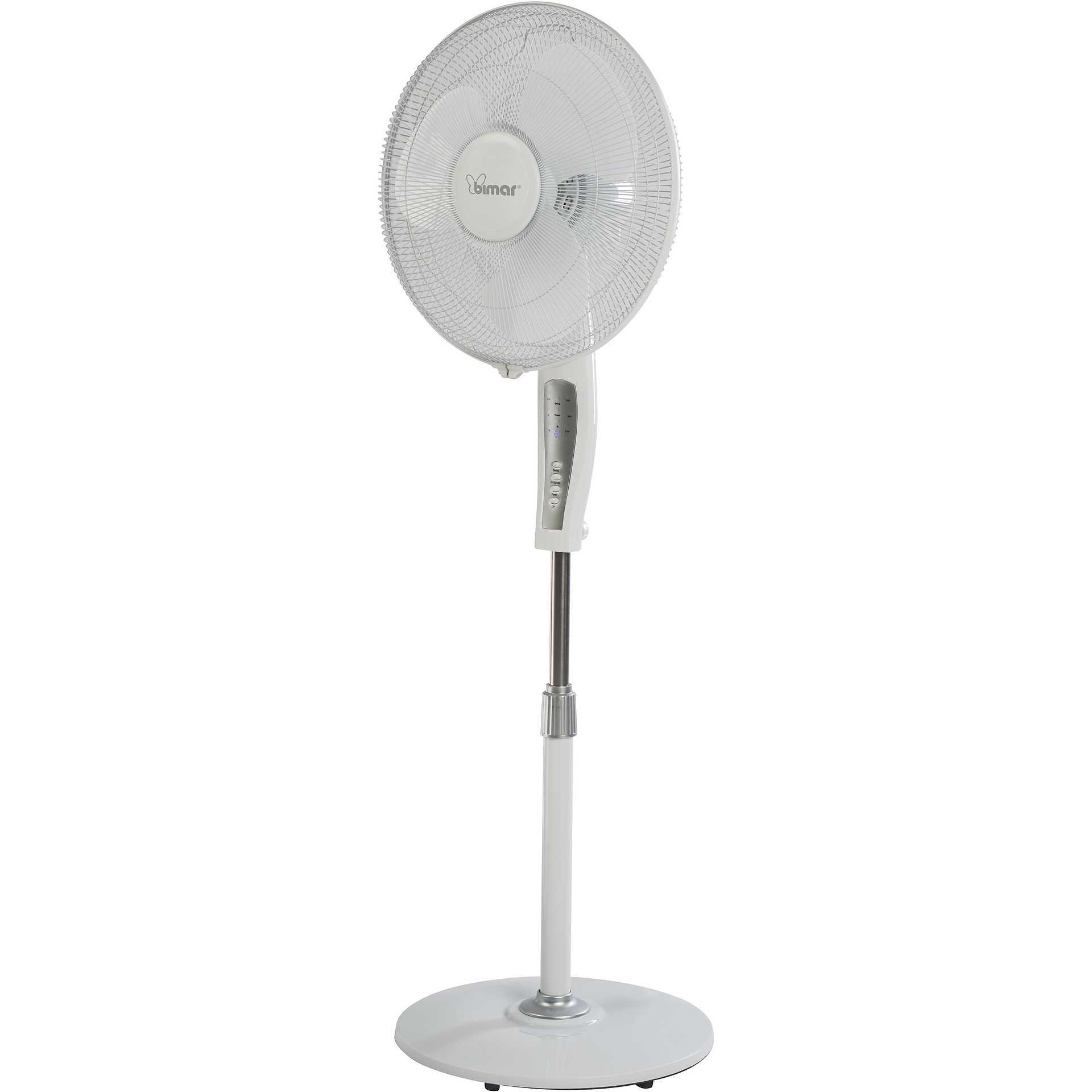 colore bianco Ventilatore a piantana con telecomando