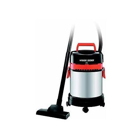 Black&decker WBV1450 Aspiratore solidi e liquidi 20 L 1400 W colore Acciaio inox, Nero,Rosso