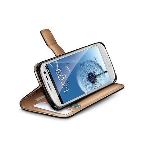 black pu wallet case galaxy s3