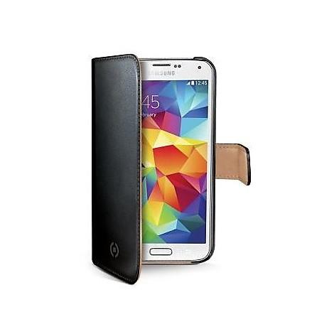 black pu wallet case galaxy s5mini