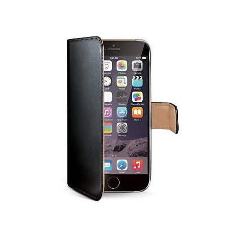 black pu wallet case iphone 6 plus