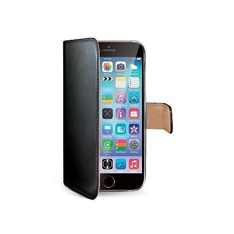 black pu wallet case iphone 6