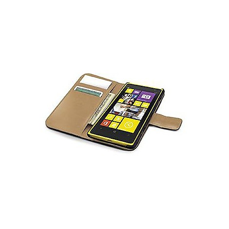 black pu wallet case lumia 1020