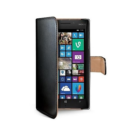 black pu wallet case lumia 930